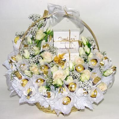 Подарок на свадьбу своими руками из цветов 2
