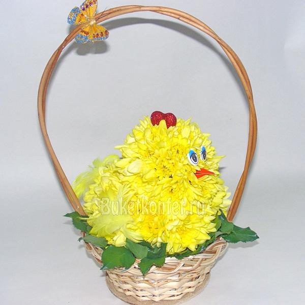 Как сделать цыпленка из живых цветов своими руками 10