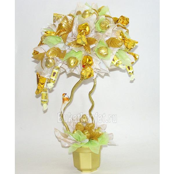 Дерево с конфет и денег своими руками 60